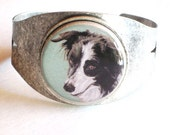 border collie original wearable art bracelet