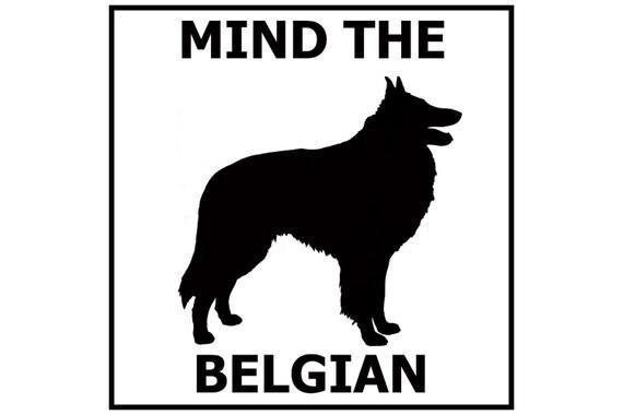 Mind the Belgian ceramic door/gate sign tile