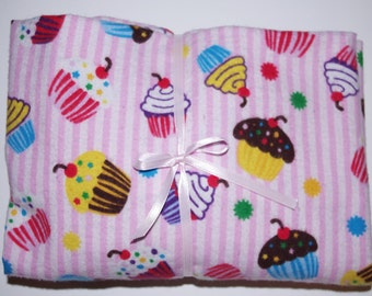 Pack n Play Sheet Fitted Cotton Flannel Playard Sheet - Cupcake Scribbles