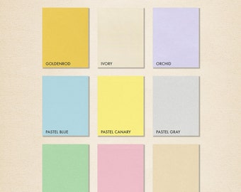 8 1/2 x 11 Paper - Pastels - Pick A Color - Quantity of 50