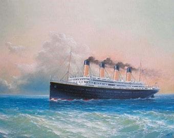 "54- ""Titanic"" , 8"" x 10"" original giclee print"