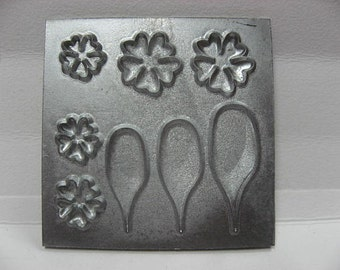 3 Miniature polymer clay molds