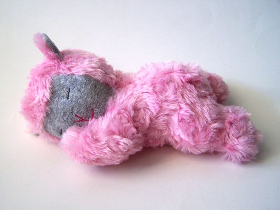 Pink Sleeping Lamb Plush