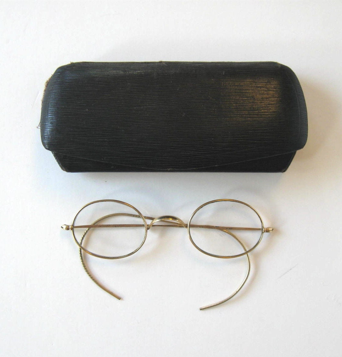 SALE Antique Pair of wire rim bifocal glasses by ...