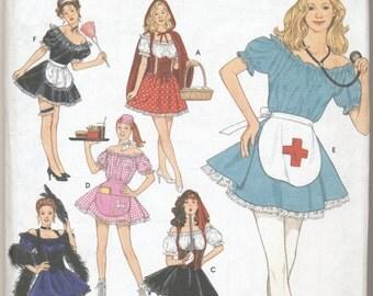 Costume Pattern Nurse, Pirate, Maid, More, Adult Sizes