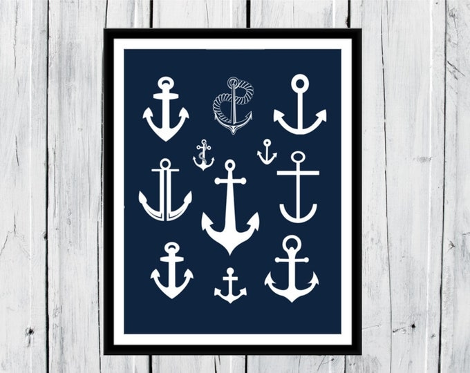 Nautical Nursery - Anchors - Anchors & more Anchors -  Beach Decor