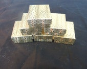 10 pack of 3.25x2.25 Gold Jewelry Presentation Gift Boxes, Display Box, Favor Box,Retail Display Cotton Filled Boxes