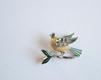 Vintage Cute Bird Brooch