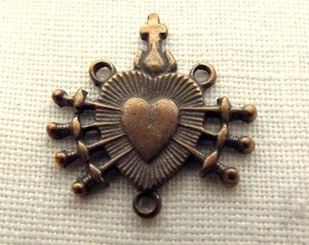 Bronze Seven Sorrows Rosary Center Centerpiece
