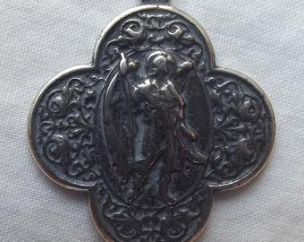 Sterling Saint St. Raphael Medal VP1011