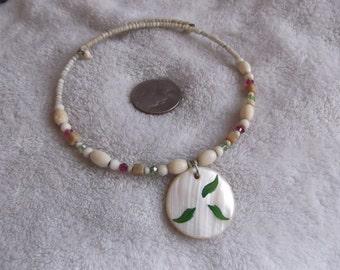 Vtg Necklace-Pretty Beaded Wrap-BOHO-N414