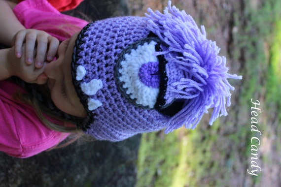 Free Crochet Pattern For Purple Minion Hat Legitefo For