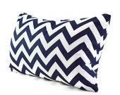 Premier Print Fabric Navy Blue  White Chevron Zig Zag, Accent Pillow, Throw Pillow, Pillow Cover - 12x16, 12x18, 12x20