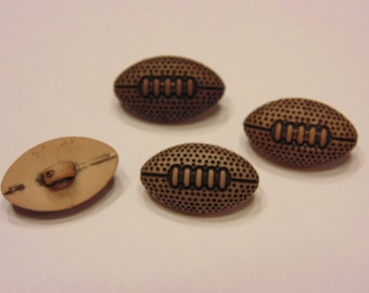 4 small / tiny football buttons, 16 mm (7)