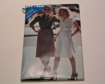 Vintage Butterick See & Sew Pattern 3262 Miss Dress