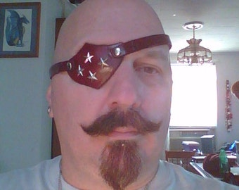 Super Hero leather eye patch