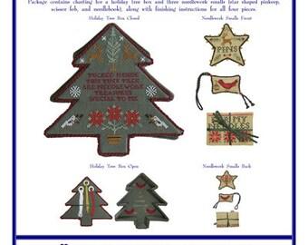 Blue Ribbon Designs, Just Add Tinsel, Cross Stitch Chart, Christmas Patterns