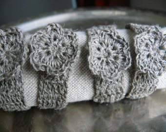 Wedding Napkin Rings, Rustic Table Decor, Crochet Natural Linen Napkin rings,Set of 4, 6, 8, 12,Shabby Chic,Wedding Decor,Linen napkin rings