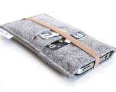iPhone 7 case, iPhone 7 Plus Sleeve, iPhone 6S Case, iPhone 6s Plus Sleeve, Samsung, Nexus. HTC- Elastic- Light Grey & Caramel