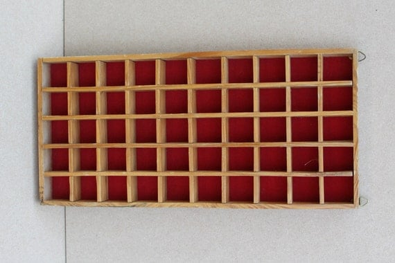 Wooden Thimble Display Case Wall Hanging