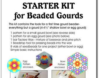 Starter Kit (Set A) for Beaded Gourds, Bowls or Eggs