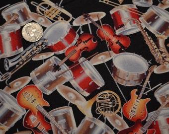 David Textiles fabric MUSICAL INSTRUMENTS