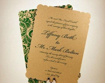 Scallop Corner Invitation - new patterns available