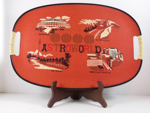Astroworld Amusement Park Houston Texas Retro Souvenir Tray Kitsch Home Decor Serving Housewares Travel Vacation