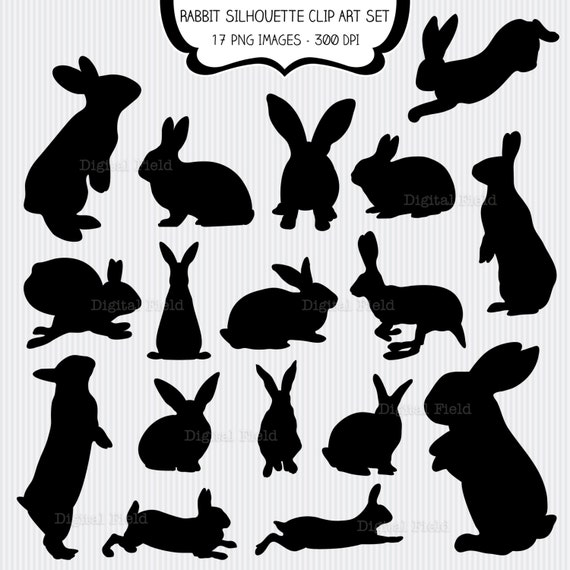 printable easter silhouette craft rabbit silhouette clip set easter bunny printable 5288