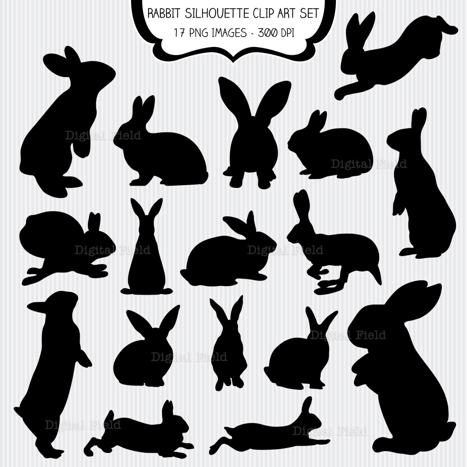 Monster image regarding bunny silhouette printable