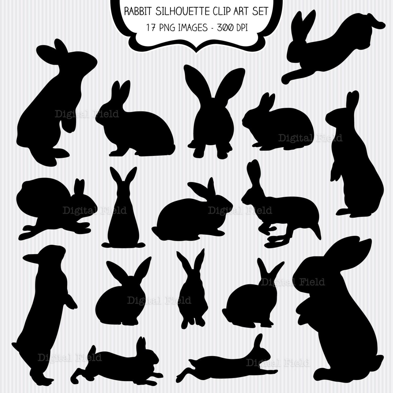 Breathtaking image pertaining to bunny silhouette printable