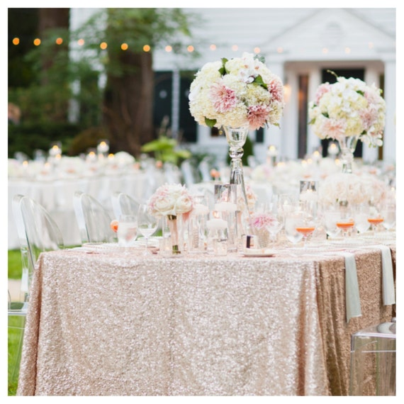 blush pink wedding table cloth