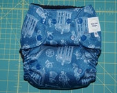 Dr who diaper Dr who baby One-Size Pocket Diaper/OS Cover in Dr. Who PUL with Tardis wing snaps - Custom Order