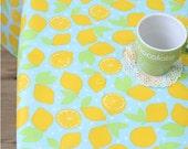 Waterproof Fabric Lemons on Blue By the Yard 39426