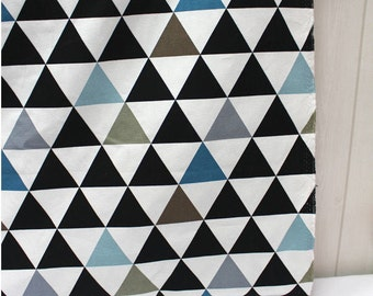 "Modern Triangles Oxford Cotton Fabric Geometric - Northern Europe Style - By the Yard (44 x 36"") 40741 - 214"