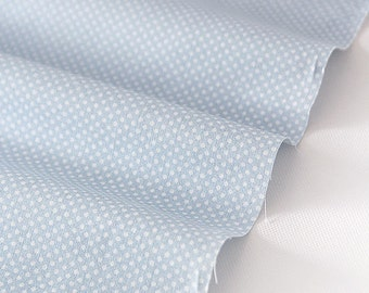 2 mm Polka Dots Cotton Fabric - Pastel Blue - By the Yard 52196
