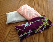 Custom Eye Pillow Filled with Organic Flax and Lavender with a Washable Cover Perfect for Yoga, Relaxation and Headache Relief