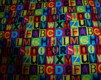 "26 Inches of ""Little Letters"" Quilt Cotton Fabric by Michael Miller Fabrics"