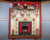 Quilted Advent Calendars with Pockets - Fireplace