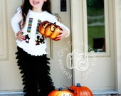 Black Lace Ruffled Petti Pants- Halloween, infant, toddler, girls