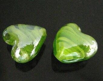 6pc  20mm  lampwork heart shape glass beads-3233