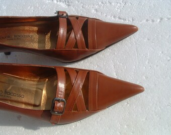 free shipping CLAUDIO FARASSA size 39 excellent shoes made in ITALY new never ware circa 1960's