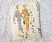 Vintage McCall's Women's Suit Pattern 4393,   Size 12  , 1957 Sewing Pattern  Complete