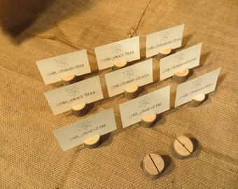 Set of Twenty Five (25) Mini Wood Place Card Holders
