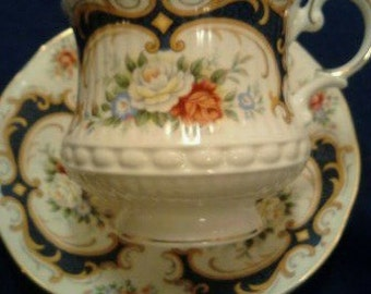 Vintage  Queen's  Fine Bone China Tea Cup and Saucer  ECS