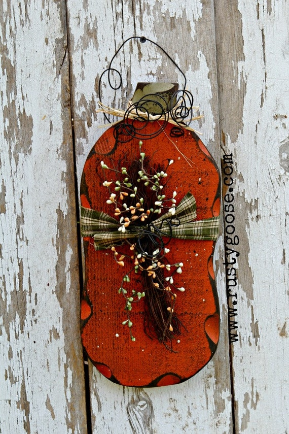 Decorative Items For Living Room: Items Similar To Pumpkin, Harvest Decor, Primitive Fall