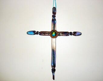 Horseshoe art cross