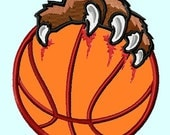 Basketball ball Lions or Bear Paws Applique Embroidery Designs INSTANT DOWNLOAD