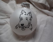 West Highland Terrier, Hand painted Christmas Ball, Personalized to order