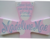 Hand painted personalized child's wooden wall cross